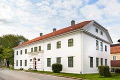 Justinmusset, το νορβηγικό Εθνικό Μουσείο της δικαιοσύνης που βρίσκεται δίπλα στο κέντρο πόλεων Tronheim στοκ εικόνες με δικαίωμα ελεύθερης χρήσης