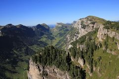 Justistal, valley in the Bernese Oberland Stock Photo