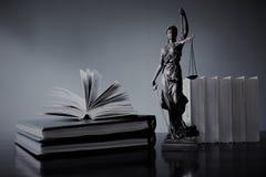 justitia -正义雕象,律师的概念图象 免版税库存照片