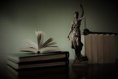 justitia -正义雕象,律师的概念图象 图库摄影