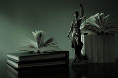 justitia -正义雕象,律师的概念图象 库存照片