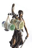 Justitia. Allegorical personification of the moral force in judicial systems Stock Photography