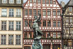 Justitia, a monument in Frankfurt, Germany Stock Image