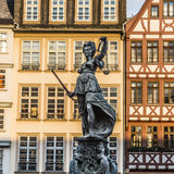 Justitia, a monument in Frankfurt, Germany Royalty Free Stock Images