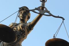 Justitia poetic justice Stock Photography