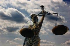 Justitia poetic justice Stock Image