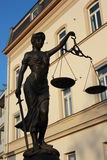 Justitia poetic justice Royalty Free Stock Image