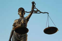 Justitia poetic justice Royalty Free Stock Images