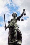 Justitia statua Obrazy Stock