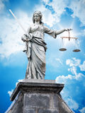 Justitia statue Stock Photography