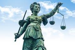 Justitia zabytek - Frankfurt Zdjęcia Royalty Free