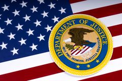Justizministerium Vereinigter Staaten Stockfotografie