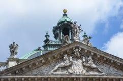 Justizpalast慕尼黑,正义,德国宫殿  免版税库存照片