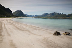 Justnes plaża Zdjęcia Royalty Free
