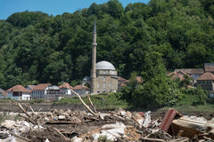 Jusuf Pasina Kurumlija Mosque After Flooding Natural Disaster Stock Images