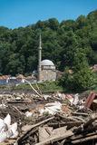 Jusuf Pasina Kurumlija Mosque After Flooding Natural Disaster Stock Photo