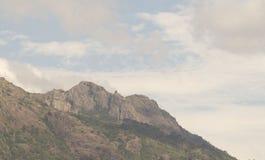 Jusus极为相象的山 库存图片