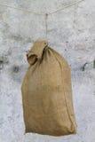 Jute bag as target. A jute bag as target Stock Image