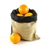 Jute bag with fruits Stock Image