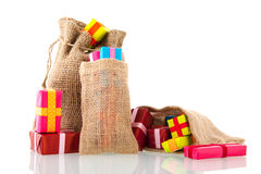 Jute bags presents Stock Image