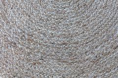 Jute braided spiral rug texture. Jute braided spiral rug texture background clos-up Royalty Free Stock Photography