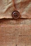 Jute canvas over wood Royalty Free Stock Image