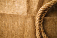 Jute canvas texture Stock Images