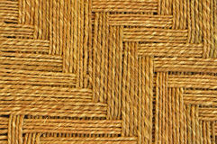 Jute carpet. Closesup of Jute carpet showing texture Stock Image