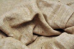 Jute cloth. Sack of brown jute fabric royalty free stock images
