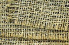 Jute cloth background Royalty Free Stock Photos