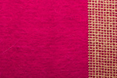 Jute mesh over pink background Royalty Free Stock Images
