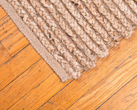 Jute pile hand woven rug Royalty Free Stock Photos