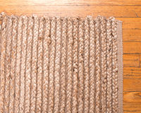 Jute pile hand woven rug Stock Image