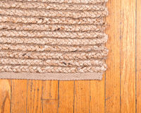 Jute pile hand woven rug Royalty Free Stock Image