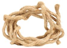 Jute Rope. A jute rope on a white background stock photography