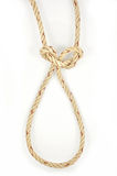 Jute Rope with Cleve Hitch Stock Photos