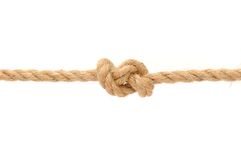 Jute Rope with Knot royalty free stock photo