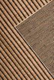 Jute rug. Closeup of jute area rug royalty free stock image