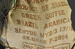 Jute sack for coffee beans Stock Image