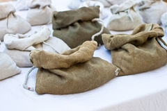 Jute sacks Royalty Free Stock Images