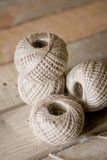 Jute Strings. Roll of jute string for DIY or decorataion royalty free stock image