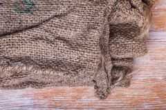 Jute texture frame Royalty Free Stock Images