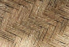 Jute thread weaving design and texture Stock Photos
