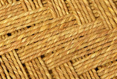 Jute thread weaving design and texture Royalty Free Stock Photos