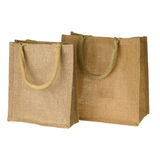 Jute Tote Bag Stock Images