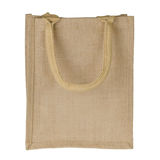 Jute Tote Bag. Isolated on white background stock photo