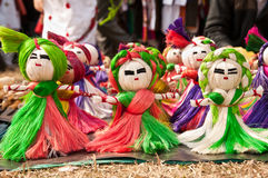 Jute toy puppets Stock Photo