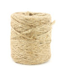 Jute twine. Common jute twine against a white background stock photo