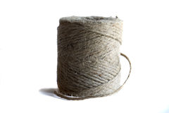 Jute twine against a white background Royalty Free Stock Photo