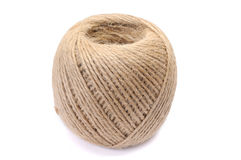 Jute twine on white Royalty Free Stock Photography